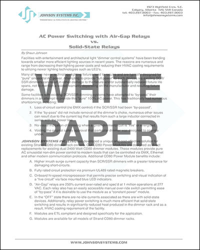 White Paper → AC Powert Switching with Air-Gap Relays vs. Solid-State Relays